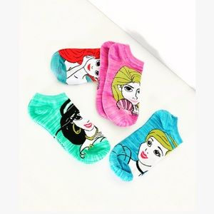 New! Disney Princess Mermaid Low Cut Ankle Socks